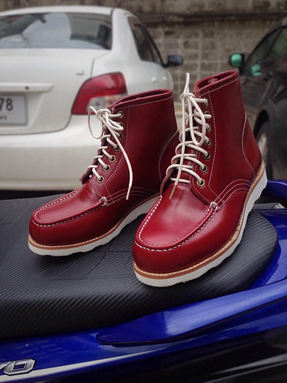 รองเท้าผู้ชาย | รองเท้าแฟชั่นชาย Red Redwing หนังฟอก CCO ทำจากหนังวัวแท้