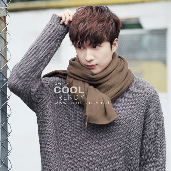 ผ้าพันคอผู้ชาย Man scarf ผ้า cashmere 180x30 cm - สี Coffee