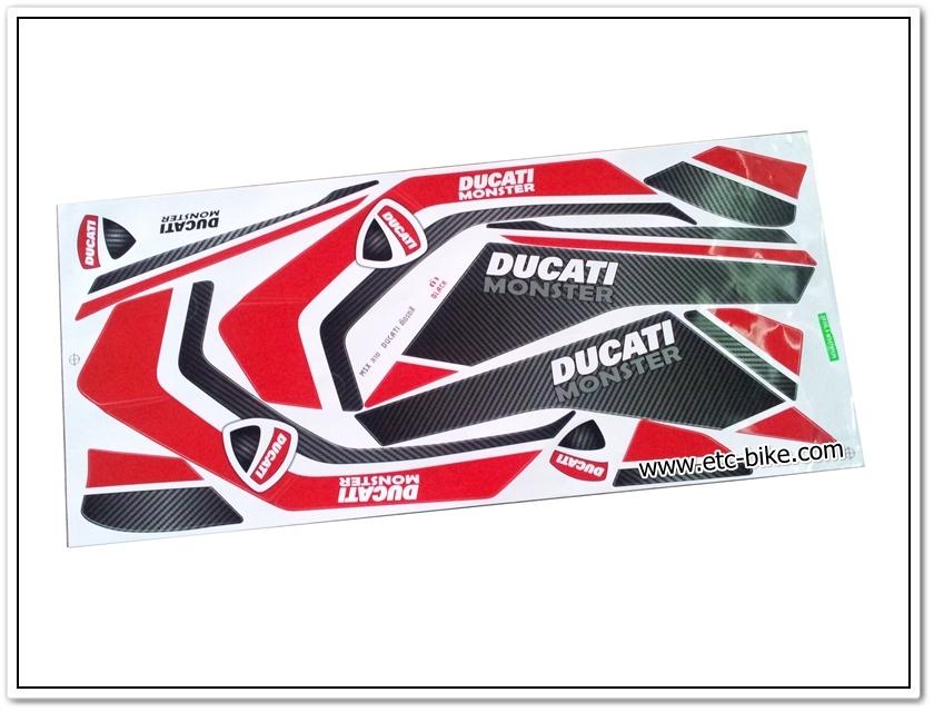 สติ๊กเกอร์ MSX-DUCATI ติดรถสีดำ