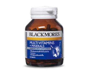 Blackmores Multi Vitamin + Mineral 60 เม็ด สำหรับผู้ป่วยพักฟื้น ผู้ที่ร่างกายอ่อนเพลีย ต้องการบำรุง ผู้ที่ทำงานหนัก