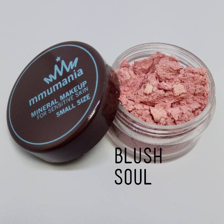 ขนาดจัดชุด MMUMANIA Mineral Makeup Blush : Satin สี Soul