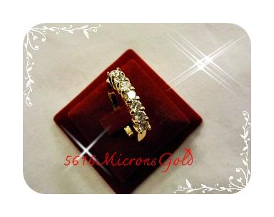 แหวน Gold Plated 1 Microns/white gold plated