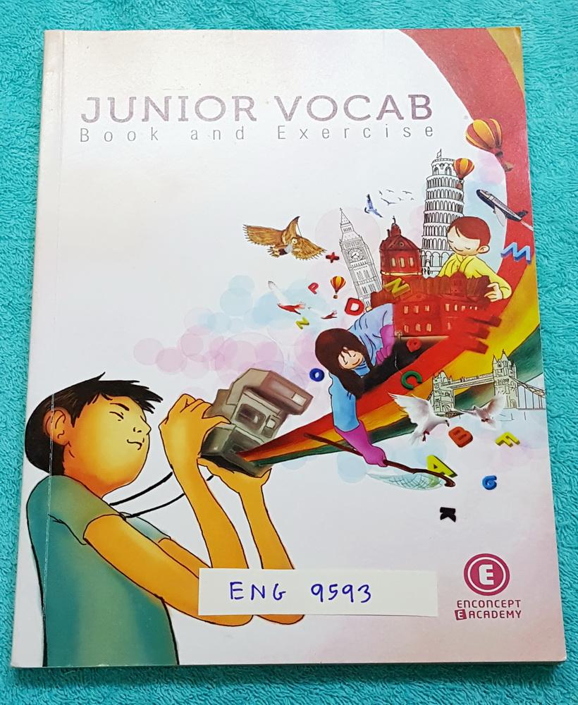 ►ครูพี่แนน Enconcept◄ ENG 9593 อังกฤษ ม.ต้น Junior Vocab Book and Exercises มีสรุปวิธีการดูคำศัพท์ การสังเกตการเดาความหมายคำศัพท์จากบริบท พี่แนนแยกคำศัพท์ออกเป็นหมวดหมู่ ทำให้จำศัพท์ง่าย มีโจทย์แนวข้อสอบเข้า ร.ร.เตรียมอุดม จดครบเท่าที่อาจารย์สอน จดละเอียด