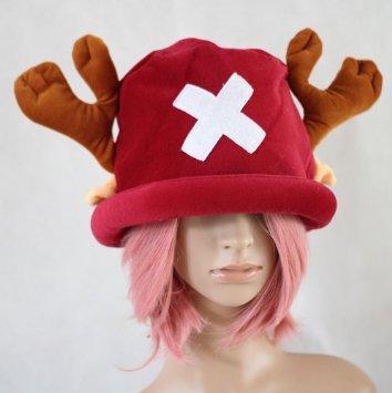 หมวกช๊อปเปอร์ One Piece สีแดงเข้ม