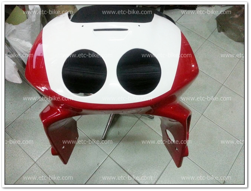 หน้ากาก NSR-R สีแดง/ขาว แท้ศูนย์ฯ
