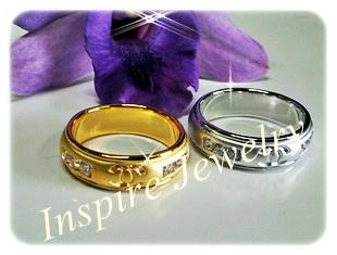 แหวนเพชร Gold plated, White gold plated