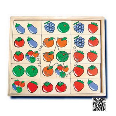 TY-3002 โดมิโนผัก,ผลไม้