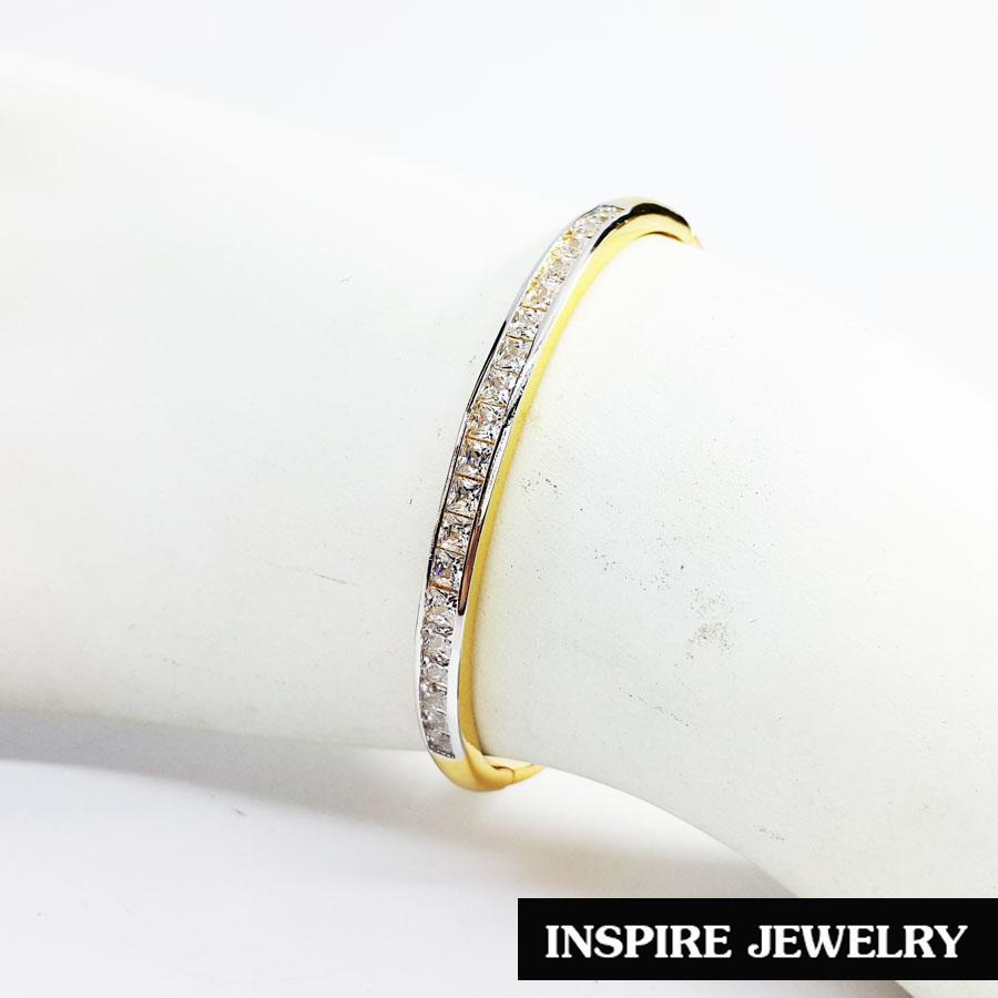 Inspire Jewelry กำไลฝังเพชร งานจิวเวลลี่