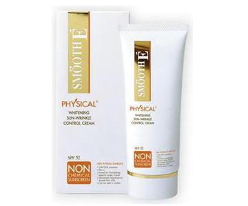 Smooth E Physical Sunscreen SPF52 (Beige) 15g ครีมกันแดด สมูทอีฟิสิคอล SPF52 ปกป้องผิวคุณจากปัญหาฝ้า ที่มีสาเหตุจากรังสี UVA/UVB