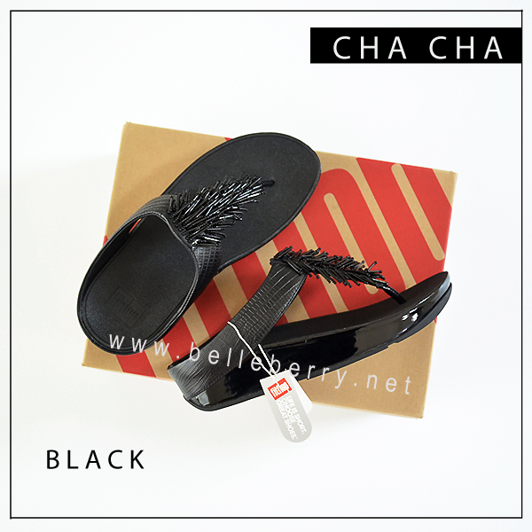 FitFlop Cha Cha : Black : Size US 8 / EU 39