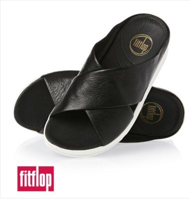 (พรีออเดอร์)Fitflop Kys Flip Flops Black/white