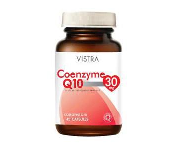 Vistra New Coenzyme Q10 30mg 30 แคปซูล สูตรใหม่ ในรูปแบบแคปซูลนิ่ม บำรุงผิว ลดริ้วรอย ชะลอความเสื่อมของผิวพรรณ ทำให้ผิวสวยเนียน
