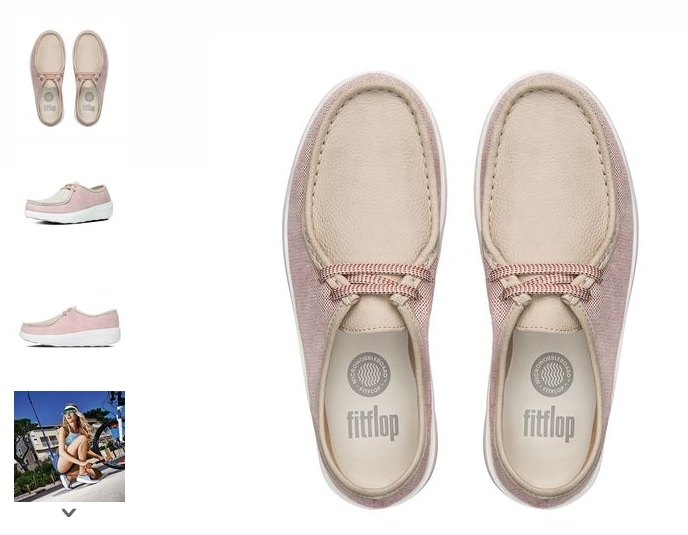 Preorder Fitflop LOAFF™ LACE-UP MOC CANVAS SHOES