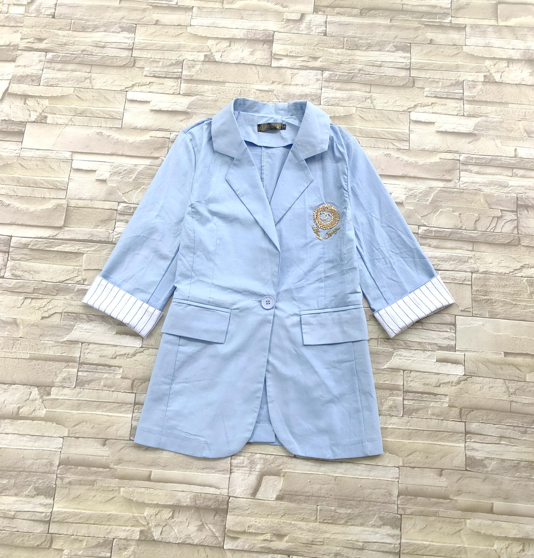 ส่ง:งานจีนเสื้อสูทคลุมแต่งพับแขนเก๋ๆ/อก37