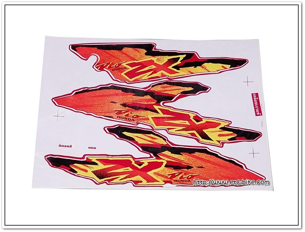 สติ๊กเกอร์ DIO-ZX ปี 2001 ติดรถสีแดง