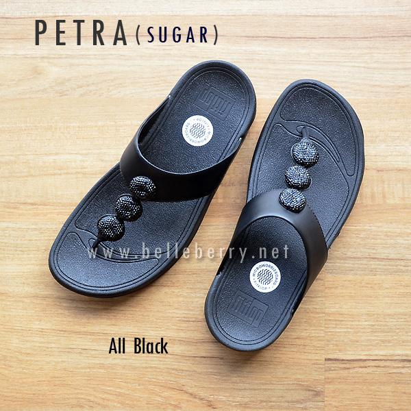 ** NEW ** FitFlop : PETRA (Sugar) : All Black : Size US 6 / EU 37