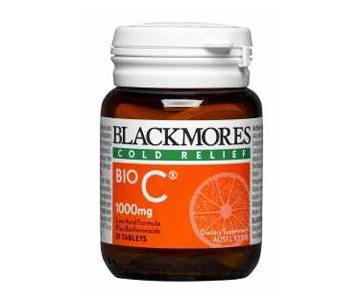 Blackmores Bio C 1000 mg 62เม็ด เสริมสร้างภูมิต้านทาน ทำให้ไม่เป็นหวัดง่าย และช่วยสร้างคอลลาเจน บำรุงผิว