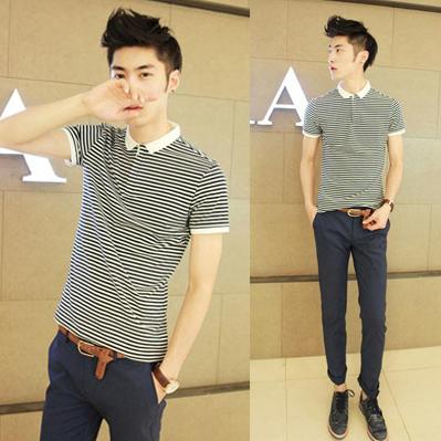 เสื้อผ้าผู้ชาย   เสื้อโปโลผู้ชาย Polo Shirt เสื้อPOLO แฟชั่นเกาหลี