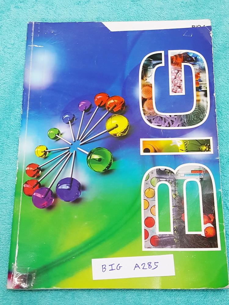 ►อ.บิ๊ก◄ BIG A285 BIO 1 หนังสือเรียนพิเศษวิชาชีววิทยา เข้าเรียนครบทุกครั้ง มีจดเนื้อหาในห้องเรียนจดครบตามที่อาจารย์สอน จดละเอียดด้วยปากกาสีและดินสอ โจทย์แบบฝึกหัดมีทำไปบางข้อ ด้านหลังมีเฉลยของอาจารย์ครบทุกข้อ หนังสือเล่มหนาใหญ่มาก