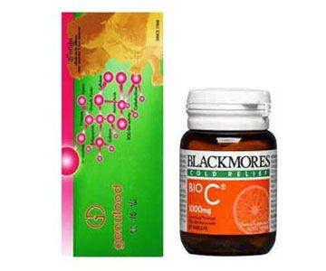 Genufood 60 ซอง และ Blackmores Bio C 1000 mg 150 เม็ด