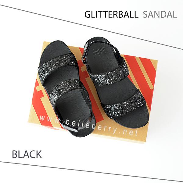FitFlop : GLITTERBALL Sandal : Black : Size US 9 / EU 41