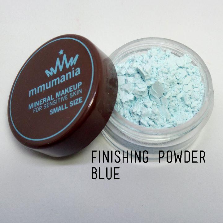 ขนาดเล็ก MMUMANIA Mineral Makeup : FINISHING POWDER แป้งฝุ่นคุมมัน มิเนอรัล สีฟ้า