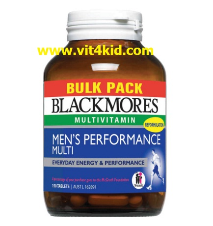 Blackmores Men Performance 150เม็ด เพิ่มสมรรถภาพทางเพศชาย ช่วยสเปิร์มแข็งแรง เสริมสุขภาพแข็งแรง (exp.05/2019)