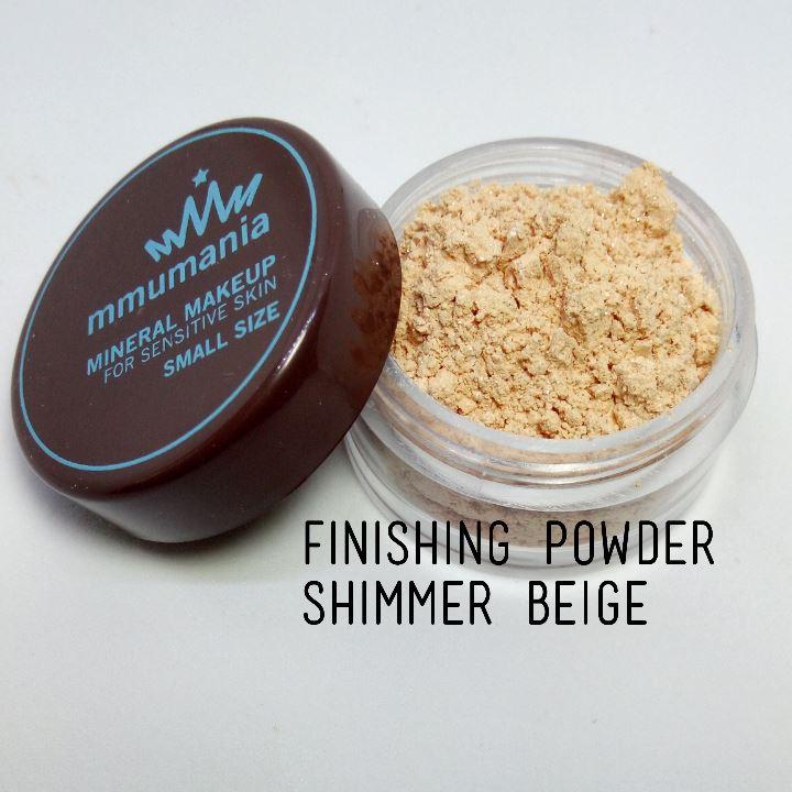 ขนาดกลาง MMUMANIA Mineral Makeup : FINISHING POWDER แป้งฝุ่นคุมมัน มิเนอรัล สีเนื้อประกายวิ้ง