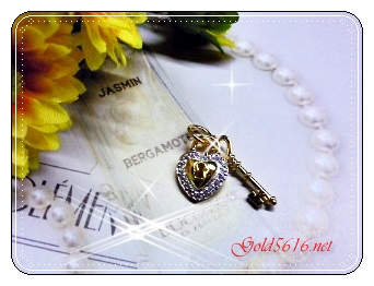 จี้เพชร gold plated/white gold plated