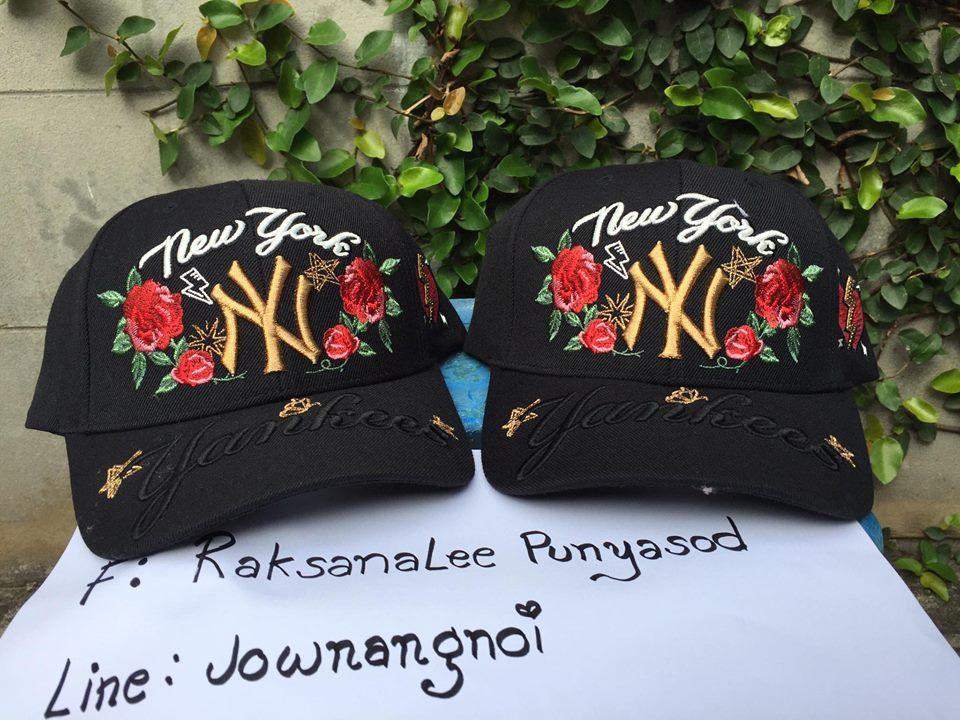 สินค้าพร้อมส่ง MLB KOREA CAP YANKEE สีดำ งานปักของแท้จากเกาหลี