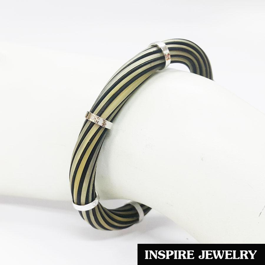 INSPIRE JEWELRY กำไลเครื่องประดับมงคล Elephant tail, หางช้าง ขนหางช้าง มีหลายแบบ หลายราคาให้เลือกใส่ ฟรีไซด์ ปรับเองได้ ถมทองลงยา ประดับด้วยหินไหมทองเป็นพวง