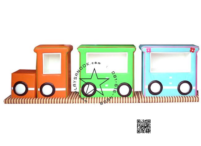 SET-02 ชุดรถไฟปู๊น ปู๊น 2 โบกี้ พร้อมสื่อเสริมพัฒนาการ