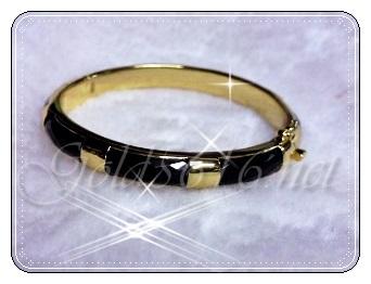 กำไลนิลดำ gold plated 5microns/white gold plated