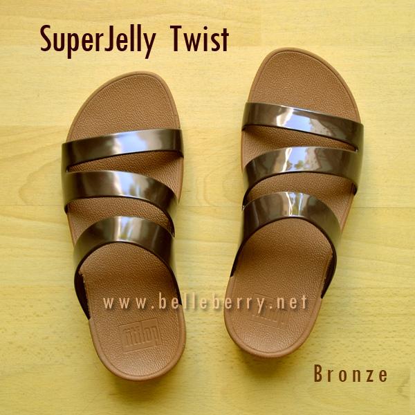**พร้อมส่ง** FitFlop SUPERJELLY TWIST : Bronze : Size US 8 / EU 39