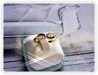 แหวนเพชรเล็ก gold plated 1microns/white gold plated