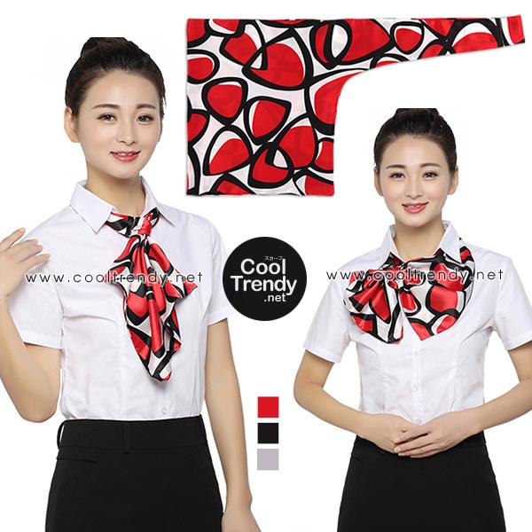 ผ้าพันคอสำเร็จรูป ผ้ายูนิฟอร์ม uniform ผ้าไหมซาติน : L58