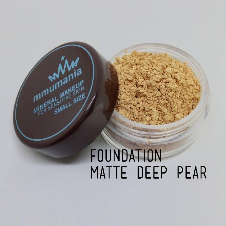 ขนาดจัดชุด MMUMANIA Matte Foundation รองพื้นสูตรควบคุมความมัน สี Deep Pear ผิวคล้ำเหลือง