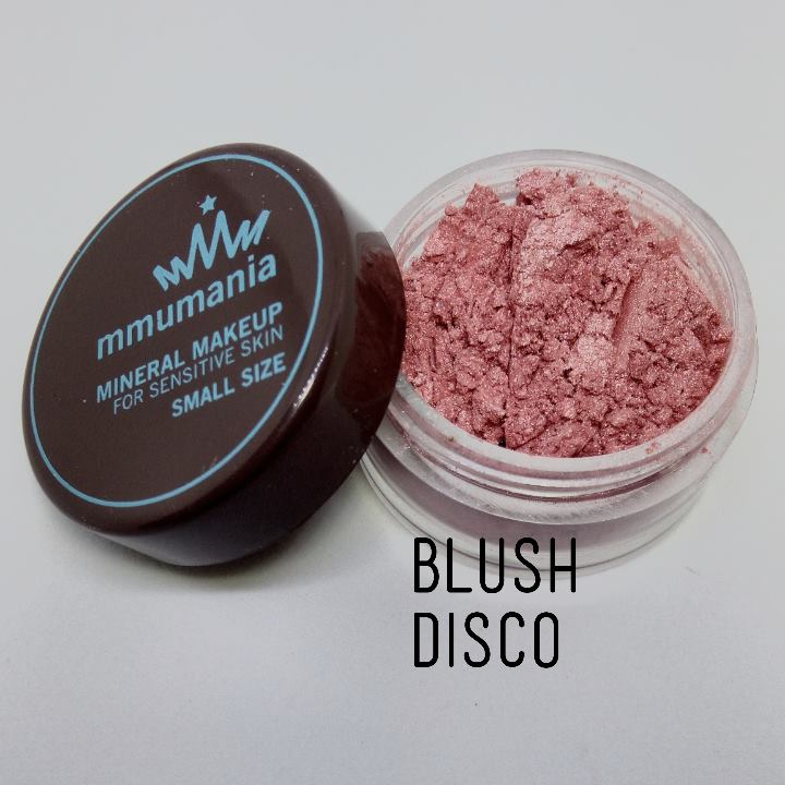 ขนาดจัดชุด MMUMANIA Mineral Makeup Blush : Satin สี Disco