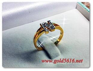 แหวนเพชร gold plated 0.5microns
