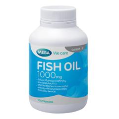Fish oil 1000mg 100 แคปซูล น้ำมันปลา มีโอเมก้า 3(EPA-DHA) ช่วยลดคอเลสเตอรอล ลดความดันโลหิตสูง