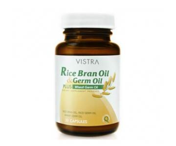 Vistra Rice Bran Oil Germ Oil Plus Wheat Germ Oil 30แคปซูล ช่วยลดคอเลสเตอรอล บำรุงประสาท ลดความเครียด ปรับสมดุลระบบฮอร์โมน