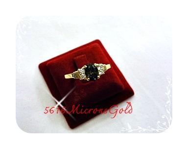 แหวนพลอย gold plated 5microns