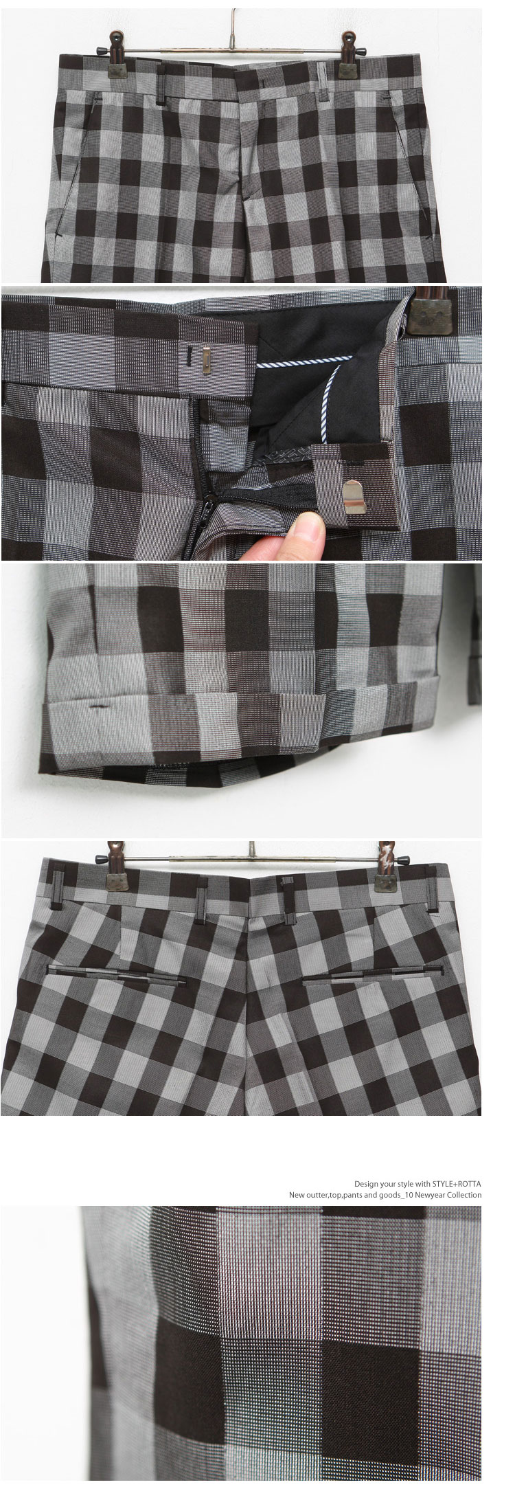 กางเกงผู้ชาย   กางเกงแฟชั่นผู้ชาย กางเกงขาสั้น ลายสก๊อต แฟชั่นเกาหลี