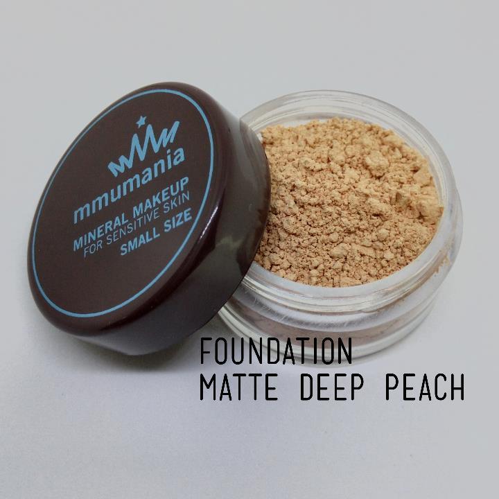 ขนาดเล็ก MMUMANIA Matte Foundation รองพื้นสูตรควบคุมความมัน สี Deep Peach ผิวคล้ำเหลืองอมแดง
