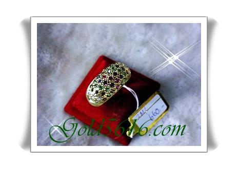 แหวนพลอยนพเก้า gold plated 2microns