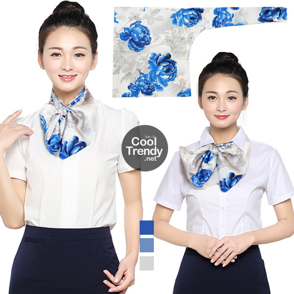 ผ้าพันคอสำเร็จรูป ผ้ายูนิฟอร์ม uniform ผ้าไหมซาติน : L556