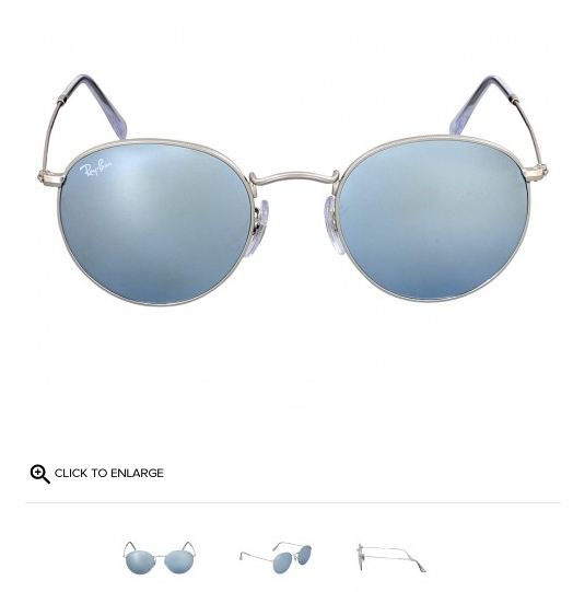 (PRE ORDER) RAY BAN Ray-Ban Round Silver Flash Sunglasses RB3447 019/30 50