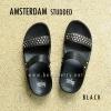 **พร้อมส่ง** FitFlop AMSTERDAM STUDDED : Black : Size US 7 / EU 38
