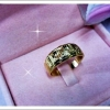 แหวนทองตอกลาย gold plated 5microns
