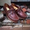 รองเท้าผู้ชาย | รองเท้าแฟชั่นชาย Brown Boat Shoes หนัง Oiled Pull Up